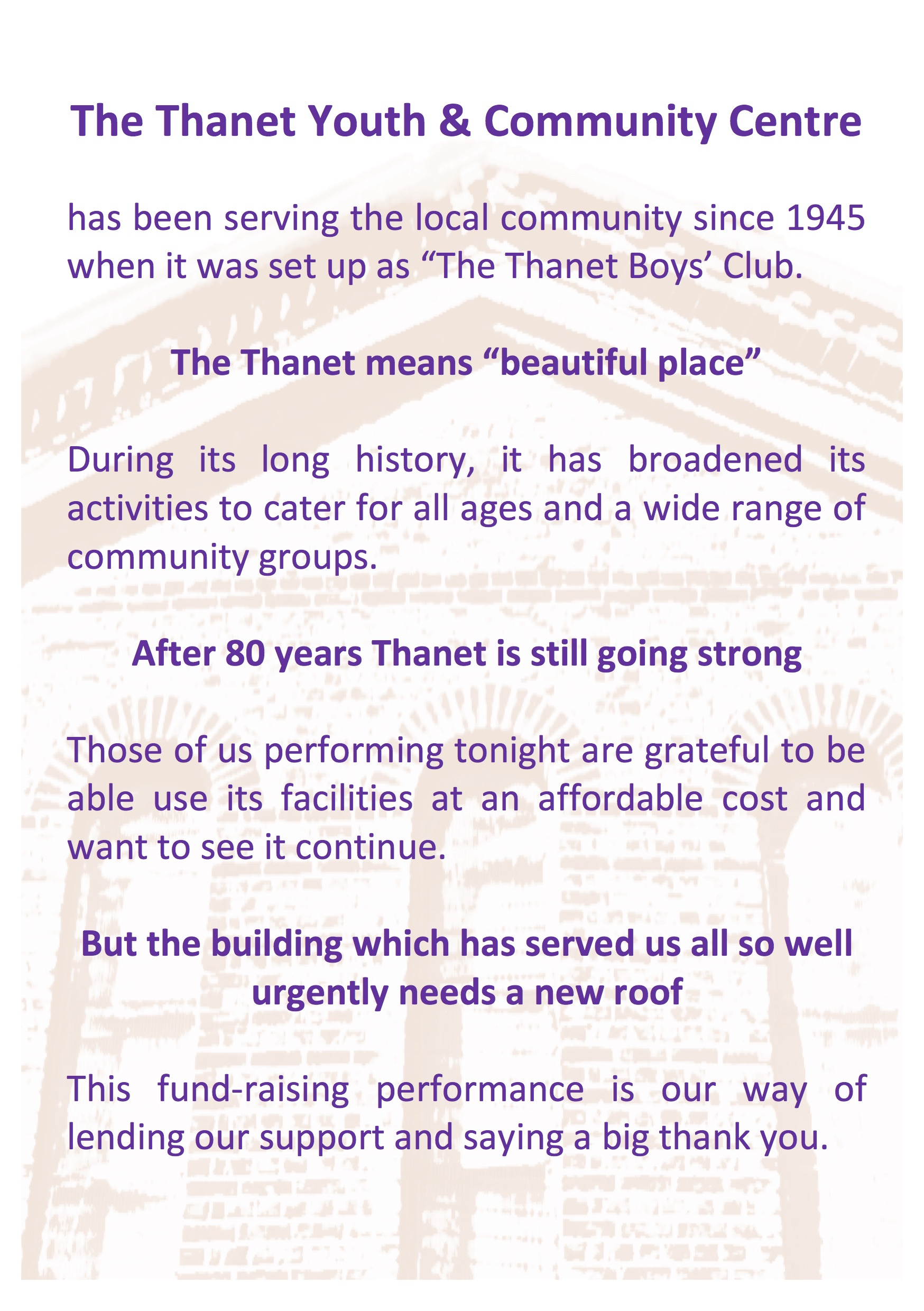 Thanet flyer 2 (back page)